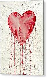 Broken Heart - Bleeding Heart Acrylic Print by Michal Boubin