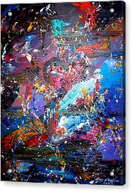Acrylic Print featuring the painting Broken Heart by Ray Khalife