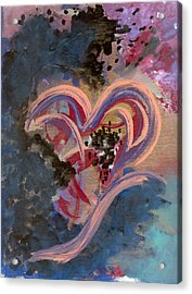 Broken Hearted Acrylic Print by Helene Henderson