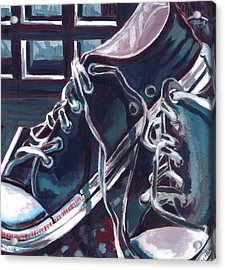 Acrylic Print featuring the painting Broken-in Converse by Shawna Rowe