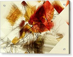 Broken Leaves Acrylic Print by Martine Affre Eisenlohr