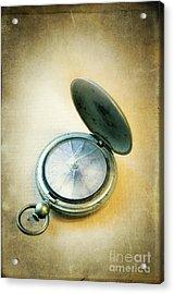 Acrylic Print featuring the photograph Broken Pocket Watch by Jill Battaglia