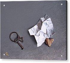 Broken Promise - 2 Acrylic Print by Elena Kolotusha
