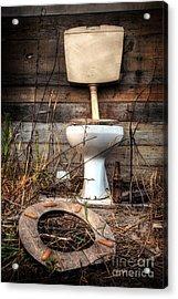 Broken Toilet Acrylic Print