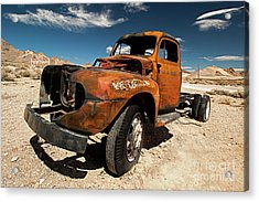 Broken Truck Acrylic Print by Christian Hallweger