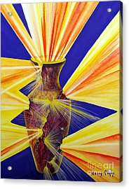 Acrylic Print featuring the painting Broken Vessel by Nancy Cupp