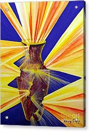 Broken Vessel Acrylic Print by Nancy Cupp