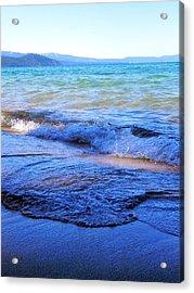 Broken Waves Acrylic Print by Leah Moore