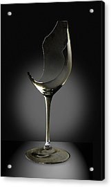 Broken Wine Glass Acrylic Print by Yuri Lev