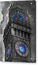 Bromo Seltzer Tower Baltimore - Blue  Acrylic Print