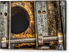 Bromo Seltzer Tower's 1911 Seth Thomas Clock Mechanism Abstract #11 Acrylic Print