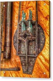 Bromo Seltzer Tower's 1911 Seth Thomas Clock Mechanism Abstract #4 Acrylic Print by Marianna Mills