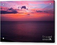 Bronco Sunrise In Panama Acrylic Print by Bob Hislop