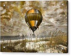 Bronze Beach Ballooning Acrylic Print by Betsy Knapp