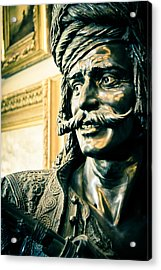 Bronze Bust - The Golden Age Acrylic Print by Colleen Kammerer