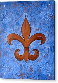 Bronze Fleur De Lis Acrylic Print
