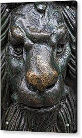 Bronze Lion Acrylic Print by Robert Ullmann
