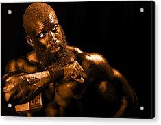 Bronze Man Acrylic Print
