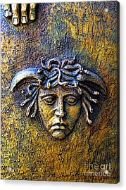 Bronze Medusa Acrylic Print by Mexicolors Art Photography