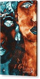Bronze Sisters Painting Acrylic Print