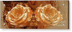 Bronzed Acrylic Print by Clare Bevan