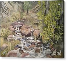 Acrylic Print featuring the painting Brook by Saundra Johnson
