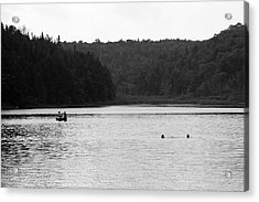 Acrylic Print featuring the photograph Brookfield, Vt - Swimming Hole 2006 Bw by Frank Romeo