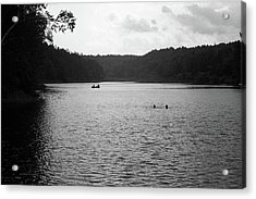 Acrylic Print featuring the photograph Brookfield, Vt - Swimming Hole Bw 2 by Frank Romeo