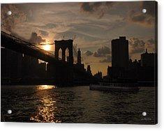 Brooklyn Bridge - Sunset Acrylic Print