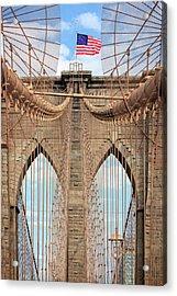 Acrylic Print featuring the photograph Brooklyn Bridge 2  by Emmanuel Panagiotakis