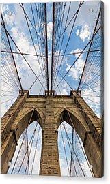 Acrylic Print featuring the photograph Brooklyn Bridge 3 by Emmanuel Panagiotakis