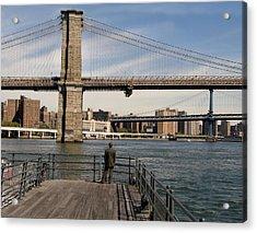 Brooklyn Bridge  Acrylic Print by Andrew Kazmierski