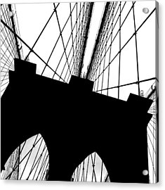 Brooklyn Bridge Architectural View Acrylic Print by Az Jackson