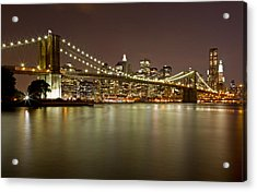 Brooklyn Bridge At Night 10 Acrylic Print