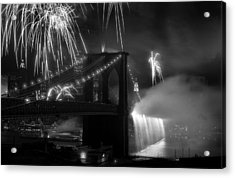 Brooklyn Bridge Columbus Quincentennial 1992 Acrylic Print by Tom Callan