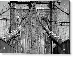 Acrylic Print featuring the photograph Brooklyn Bridge by Emmanuel Panagiotakis