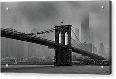 Brooklyn Bridge In A Storm 2 Acrylic Print