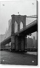 Brooklyn Bridge In A Storm Acrylic Print