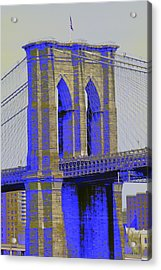 Brooklyn Bridge In Blue Acrylic Print