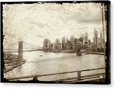 Acrylic Print featuring the painting Brooklyn Bridge by Joan Reese