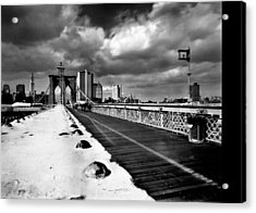 Brooklyn Bridge Acrylic Print by Luca Baldassari