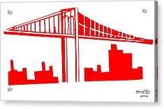 Brooklyn Bridge Acrylic Print by Michael Grubb
