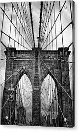 Brooklyn Bridge Mood Acrylic Print