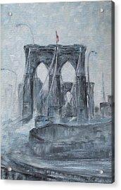 Brooklyn Bridge Acrylic Print by Natia Tsiklauri