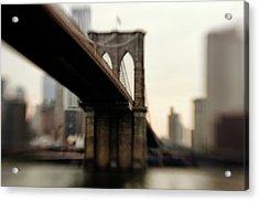 Brooklyn Bridge, New York City Acrylic Print by Photography by Steve Kelley aka mudpig