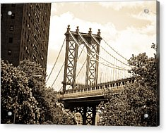 Brooklyn Bridge New York Acrylic Print