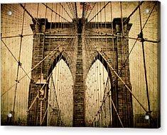 Brooklyn Bridge Nostalgia Acrylic Print