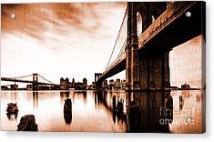 Brooklyn Bridge Ny 02 Acrylic Print by Gull G