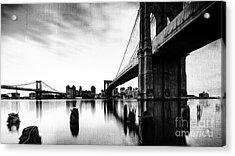 Brooklyn Bridge Ny Acrylic Print by Gull G
