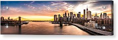Brooklyn Bridge Panorama Acrylic Print